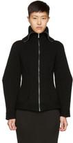 Alexander McQueen Black Cashmere Zip Cardigan