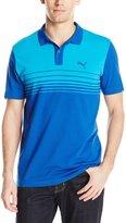 Puma Men's Sports Stripe Jersey Polo