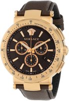 Versace Men's VFG060013 Mystique Sport 46mm Rose Gold Ion-Plated Coated Stainless Steel Chronograph Tachymeter Date Watch