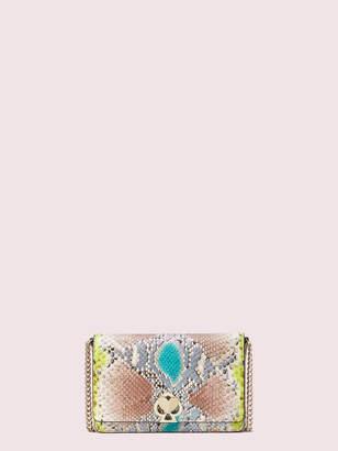 Kate Spade romy python-embossed chain wallet