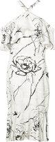 Christian Siriano floral halterneck dress
