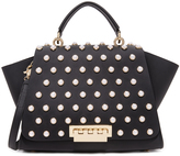 Zac Posen Eartha Imitation Pearl Lady Soft Top Handle Bag