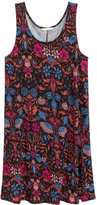 H&M Sleeveless Jersey Dress - Black floral - Ladies