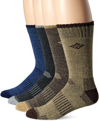 Columbia Men's 4 Pack Mid-Calf Check Crew Socks