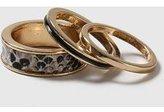 Dorothy Perkins Womens Snake Print Ring Set- Brown