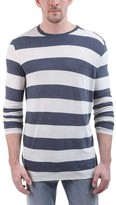ATM Anthony Thomas Melillo Men's Rugby Stripe Long-Sleeve Crew Neck Tee