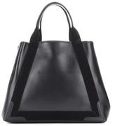 Balenciaga Navy Cabas M leather tote