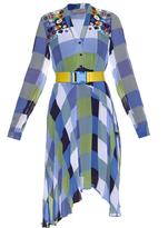 Preen Line Emilia checked georgette dress
