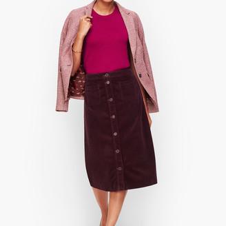 Talbots Wide Wale Corduroy A-Line Skirt