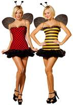 Dreamgirl Women's Reversible Bumble Bee/Lady Bug Costume, Multi