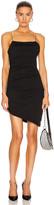 Alexander Wang Compact Jersey Mini Dress in Black | FWRD