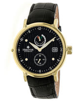 Heritor Leopold Mens Black Strap Watch-Herhr4706