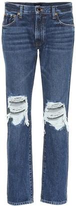 KHAITE The Kyle low-rise distressed jeans