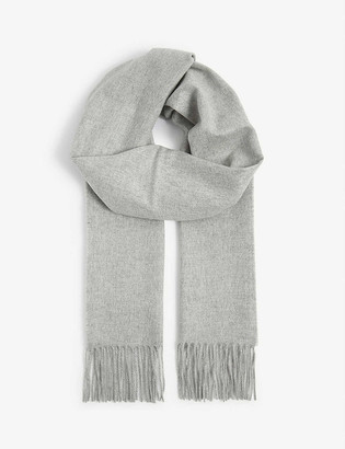 Johnstons Fringed personalised cashmere scarf