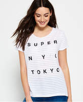 Superdry NYC Burnout Stripe Boyfriend T-shirt