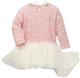 Jessica Simpson Sparkle Knit With Tulle Skirt Dress & Bloomer Set (Baby Girls)
