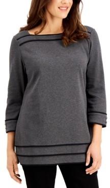 Karen Scott Cotton Boatneck Tunic, Created for Macy's