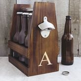 Cathy's Concepts Cathys concepts Monogram Wooden Craft Beer Carrier