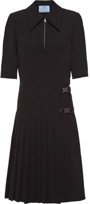 Prada Buckled Shirt Dress