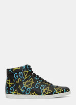 Gucci Men's Guccighost® High-top Sneakers In Black