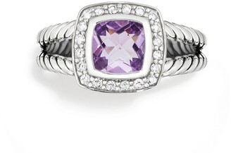 David Yurman Albion Petite Ring with Semiprecious Stone & Diamonds