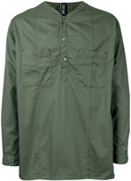 Factotum collarless shirt - men - Cotton - 44