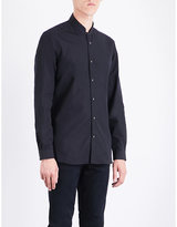 The Kooples Officer-collar Slim-fit Cotton Shirt