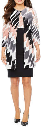 Danny & Nicole 3/4 Sleeve Midi Jacket Dress