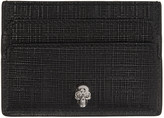 Alexander McQueen Black & Gunmetal Lino Skull Card Holder