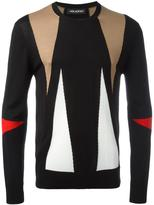 Neil Barrett intarsia geometric pattern jumper - men - Merino - S