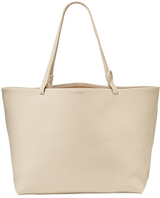 The Row Park Large Fine-Grain Leather Shoulder Tote Bag