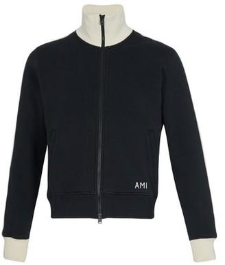 Ami Zipped cotton sweatshirt