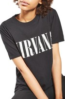 Topshop Petite Women's By And Finally Nirvana Nibbled Tee