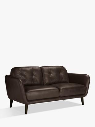 House by John Lewis Arlo Medium 2 Seater Leather Sofa, Dark Leg