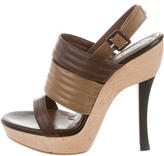 Marni Quilted Leather Slingback Sandals