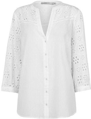 Oasis Curve Broderie Shirt