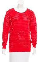 Sandro Long Sleeve Open-Knit Sweater