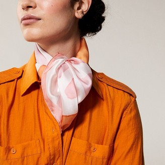 Love & Lore Love And Lore Square Foulard Scarf Malta Floral Pink