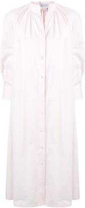 Harris Wharf London Striped Cotton Shirt Dress