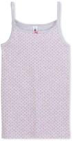 Petit Bateau Girls star print tank top in Lycra jersey