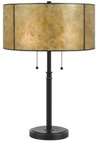 Mica Cal Lighting mission style Twin Pull Metal Table Lamp with Shade