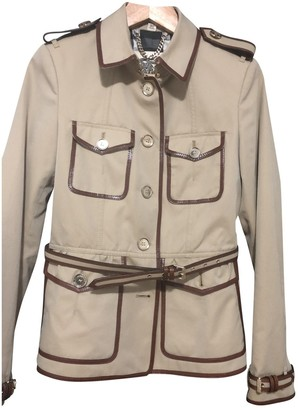 Burberry Brown Suede Trench Coat for Women