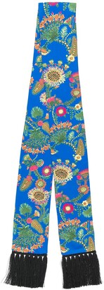 La DoubleJ Thistle Blu Simple skinny scarf