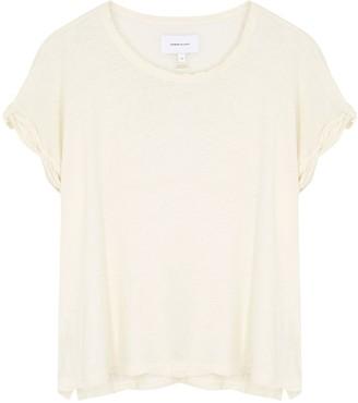 Current/Elliott Ecru linen and cotton-blend T-shirt