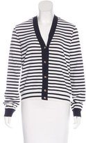 Chanel Striped Knit Cardigan