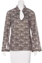 Tory Burch Printed Embellished Top