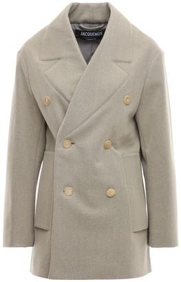 Jacquemus Short Double Breast Wool Blend Coat