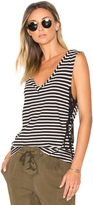 Pam & Gela Striped Lace Up Tank