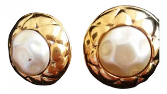 Chanel MatelassA Gold Pearls Earrings