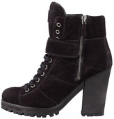 Prada Lace-Up Ankle Boot, Nero